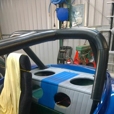 custom rear speaker shelf for buggy