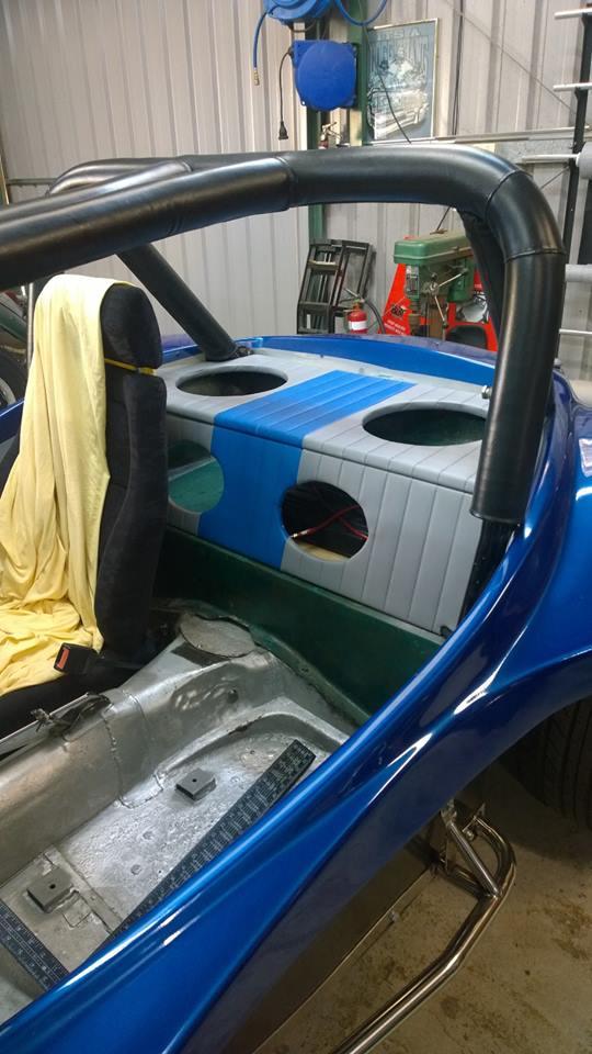 custom rear speaker shelf for buggy
